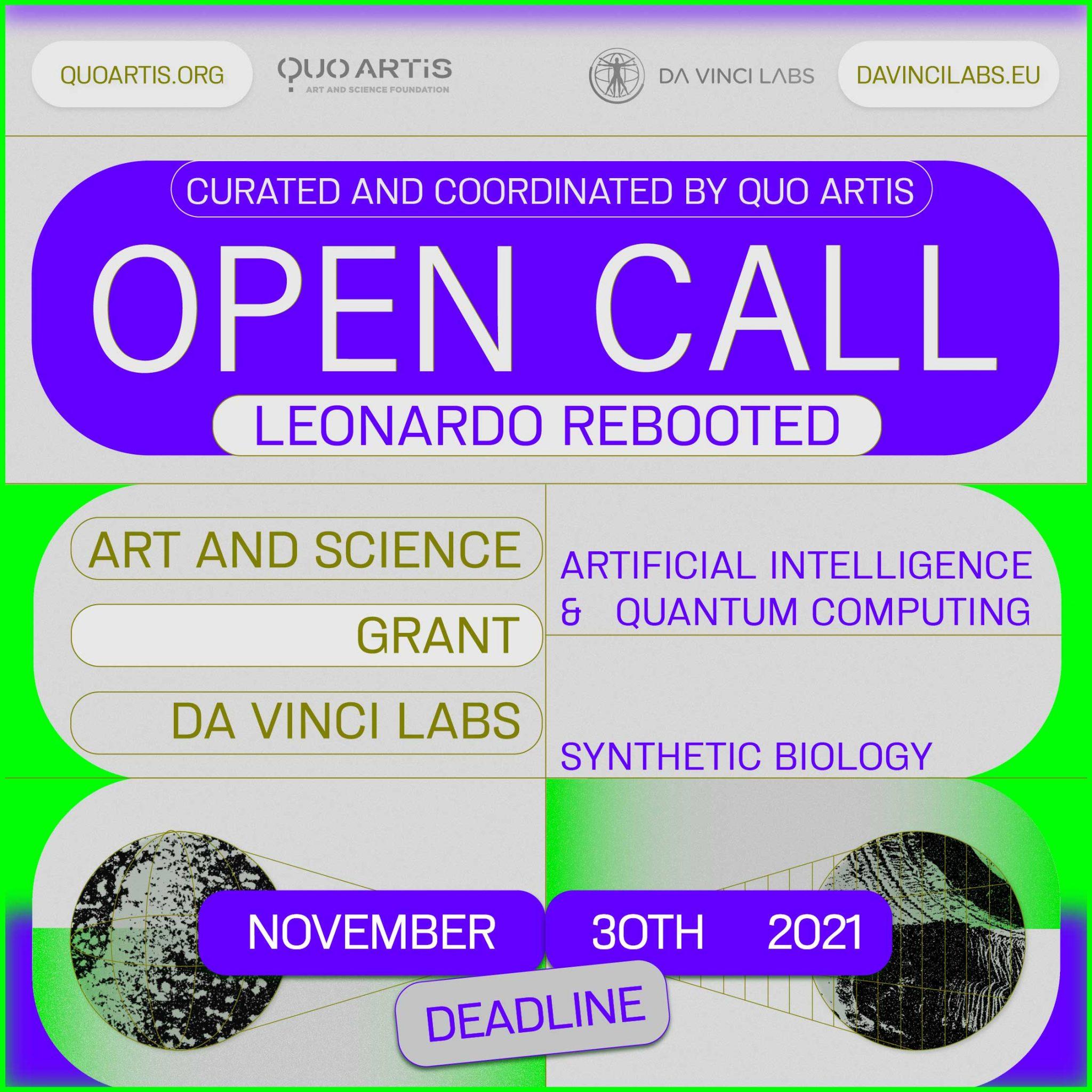 Quo Artis Open Call for Leonardo Davinci