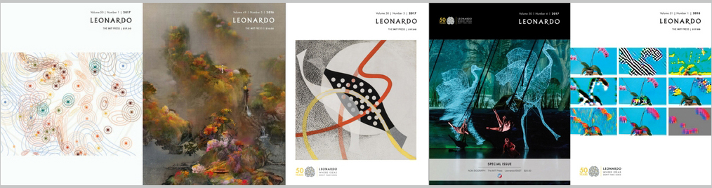 Leonardo journal covers