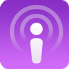 Square icon of an abstracted human silhouette with circular lines emanating from the head on a purple background