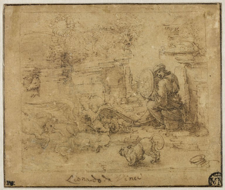 Leonardo da Vinci - Allegory with Solar Mirror