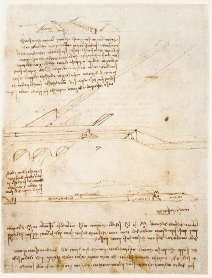 Leonardo da Vinci - canal bridge - wikimedia commons