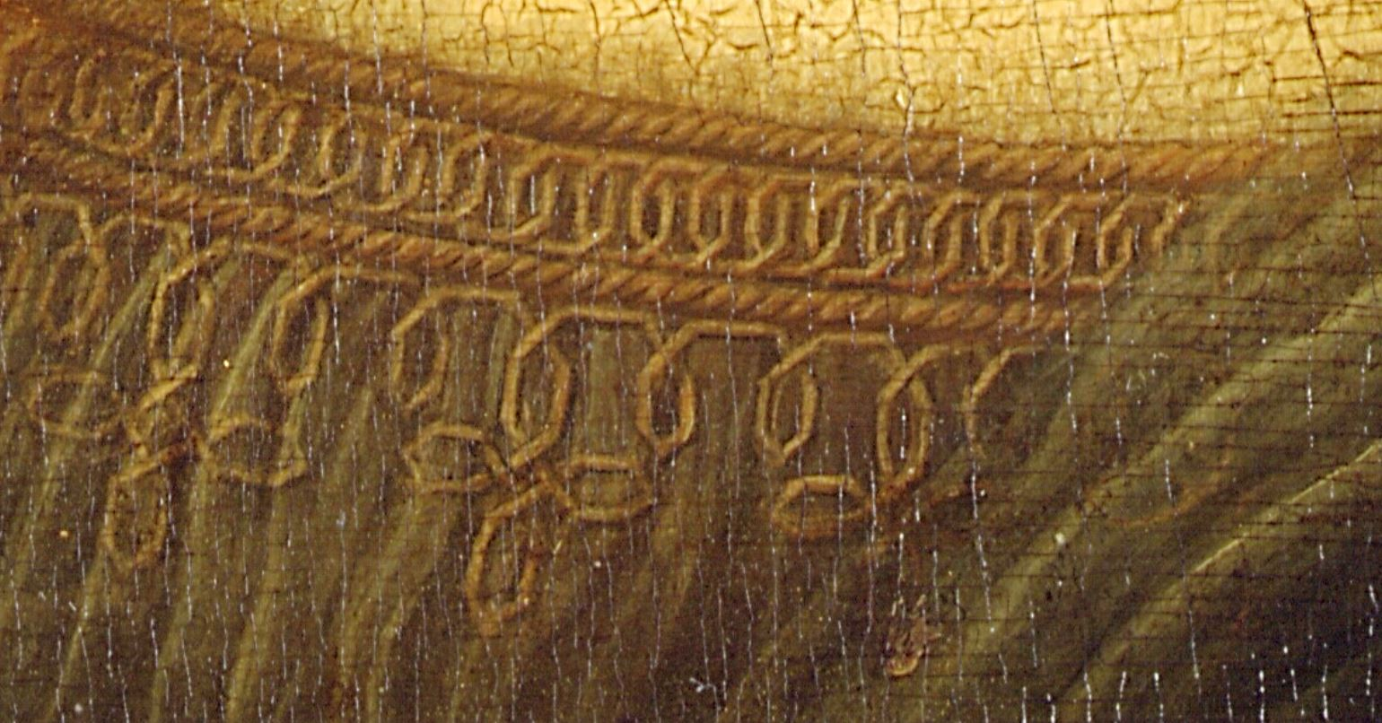 Detail from Mona Lisa, wikipedia