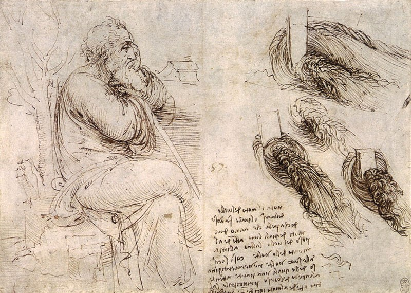 "Leonardo's ""Old Man with Water Studies"""