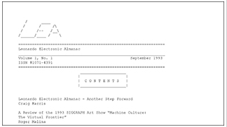 Leonardo Electronic Almanac issue 1