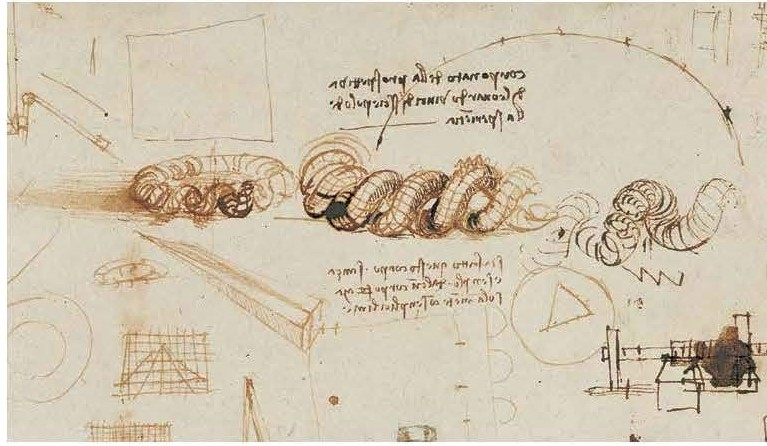 Studies on a body in perspective - Codex Atlanticus, f. 520 r.