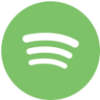 Square icon with a large green circle encompassing three curved white lines.