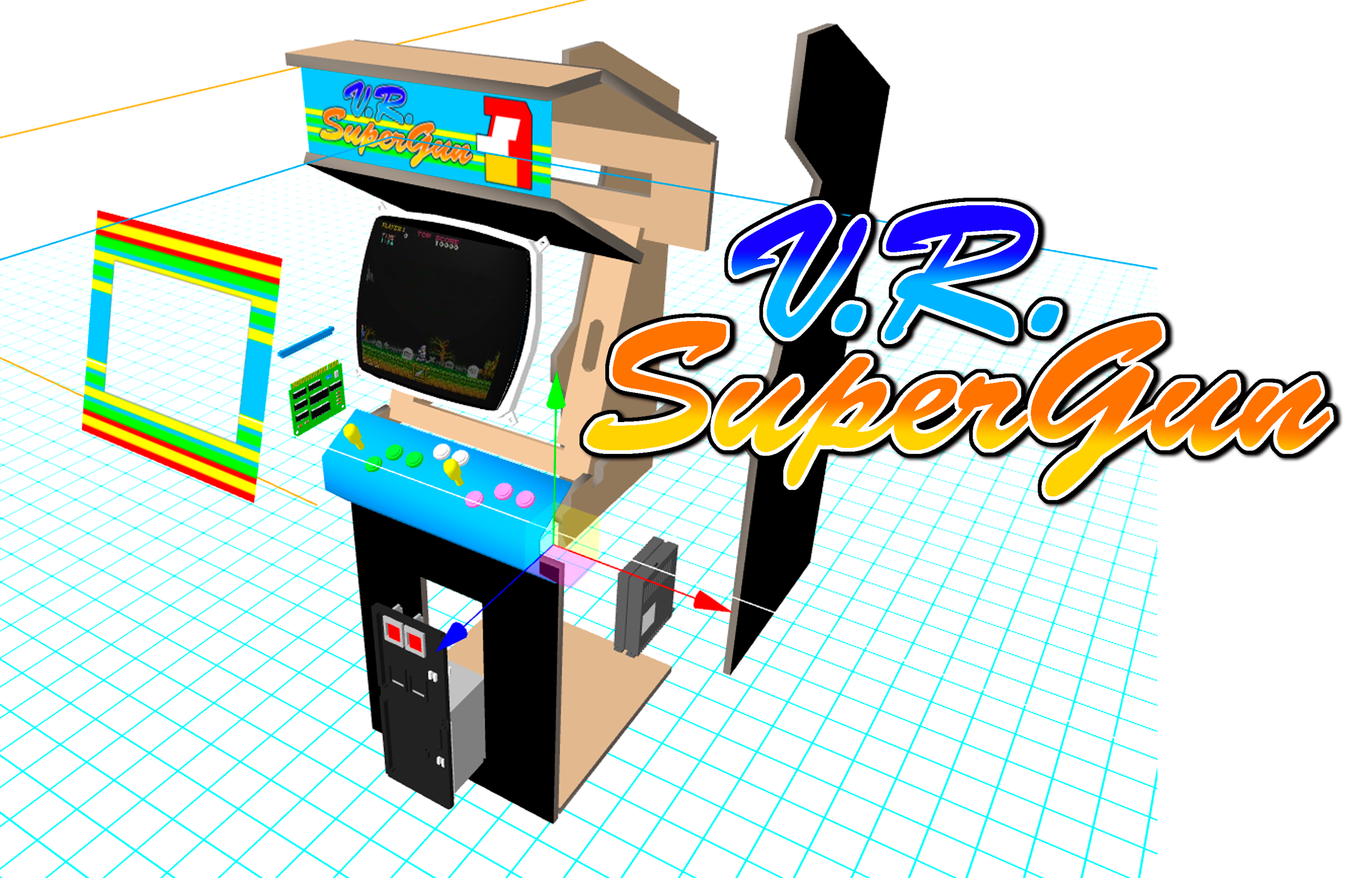 VR SuperGun prototype, screen capture. (© Kieran Nolan)
