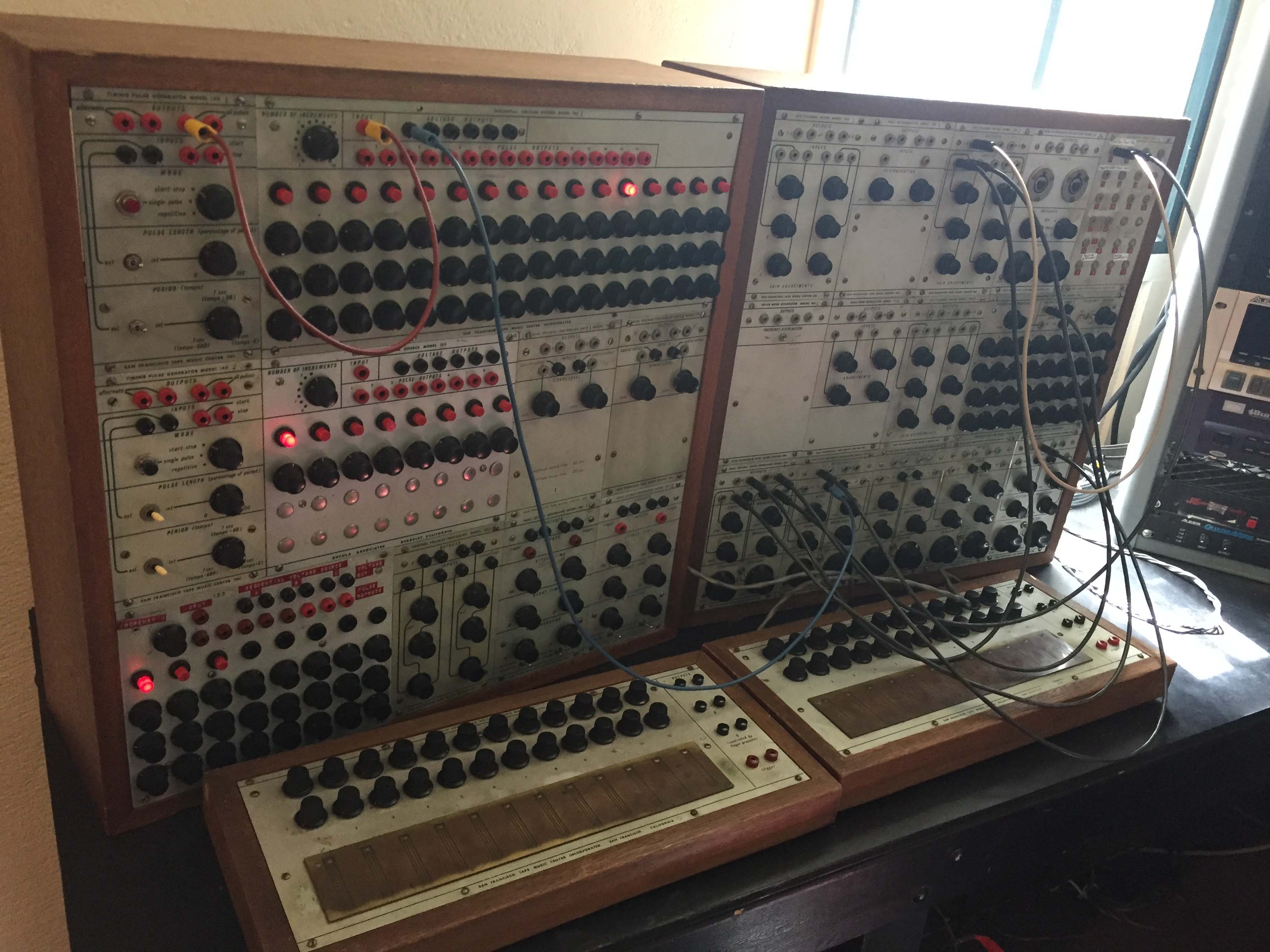 Donald Buchla's Modular Electronic Music System at Mills College, 2016. (Photo © Ted Gordon 2016).