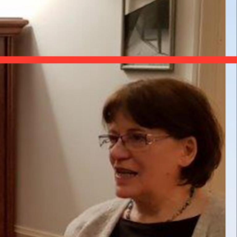 <p>A picture of Éva Forgács&#039; head in profile.</p>